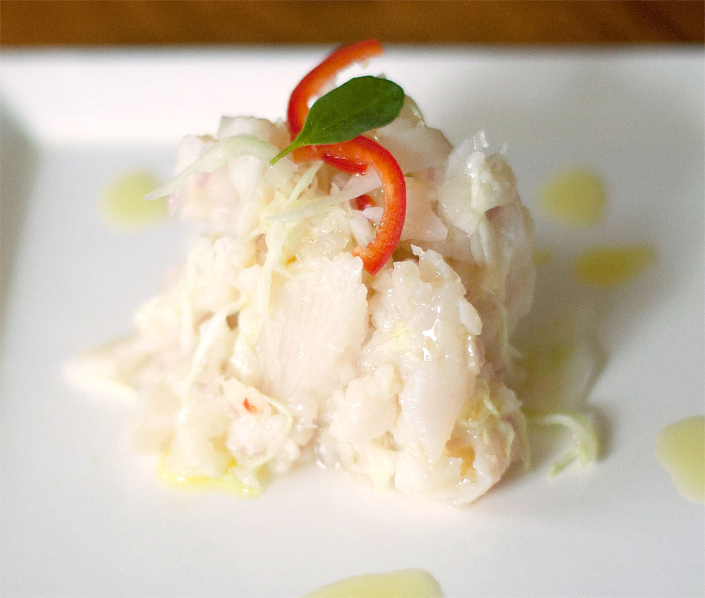Ceviche of Swai with Lime, Ginger and Jalapeño