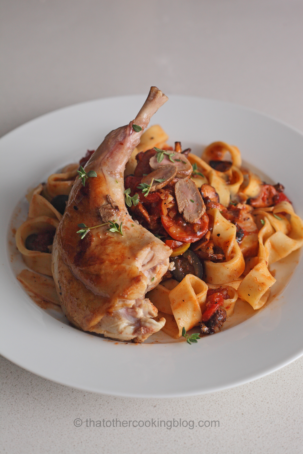 Rabbit Ragout with Fresh Tagliatelle Pasta