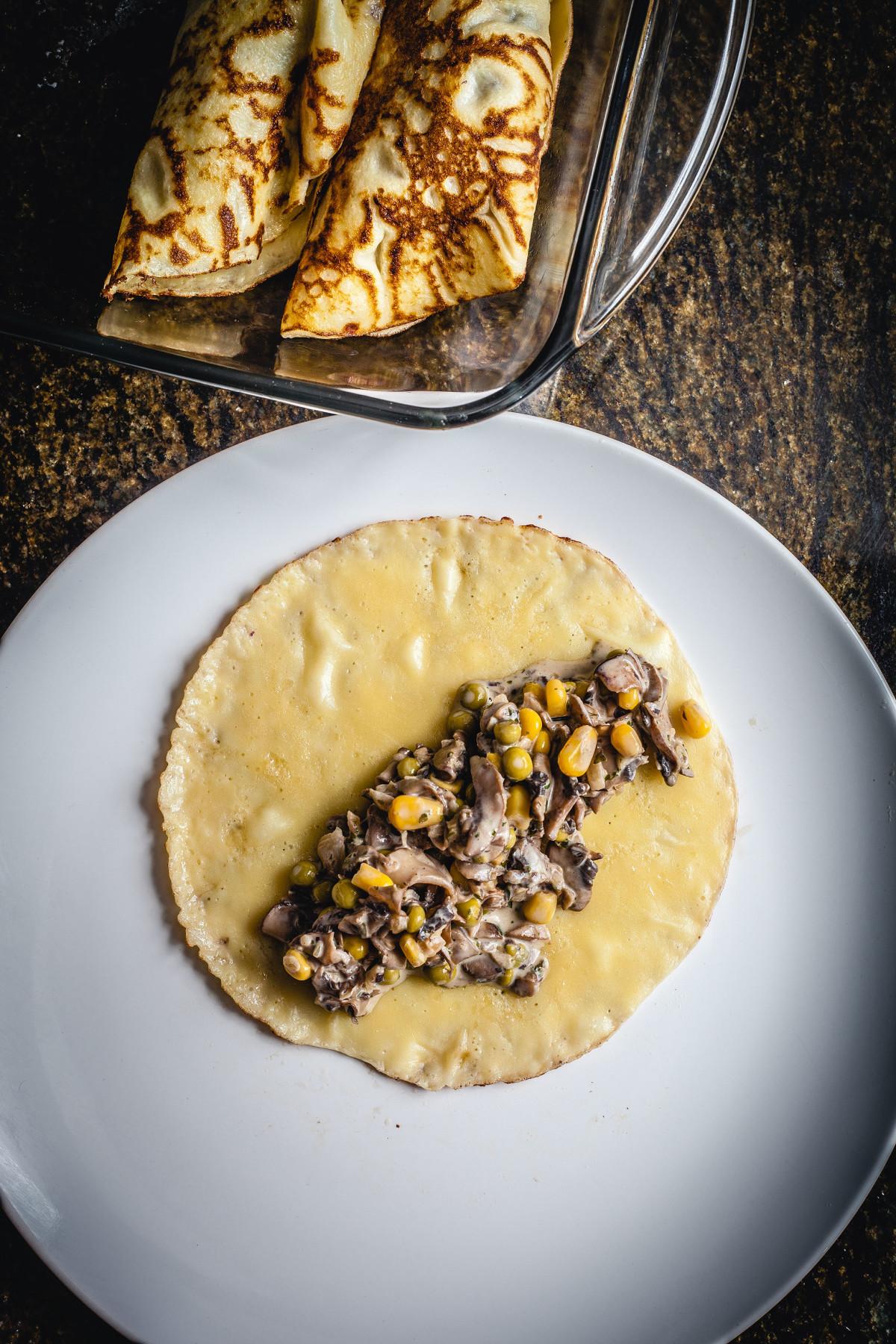 Easy Creamy Mushroom Crepes