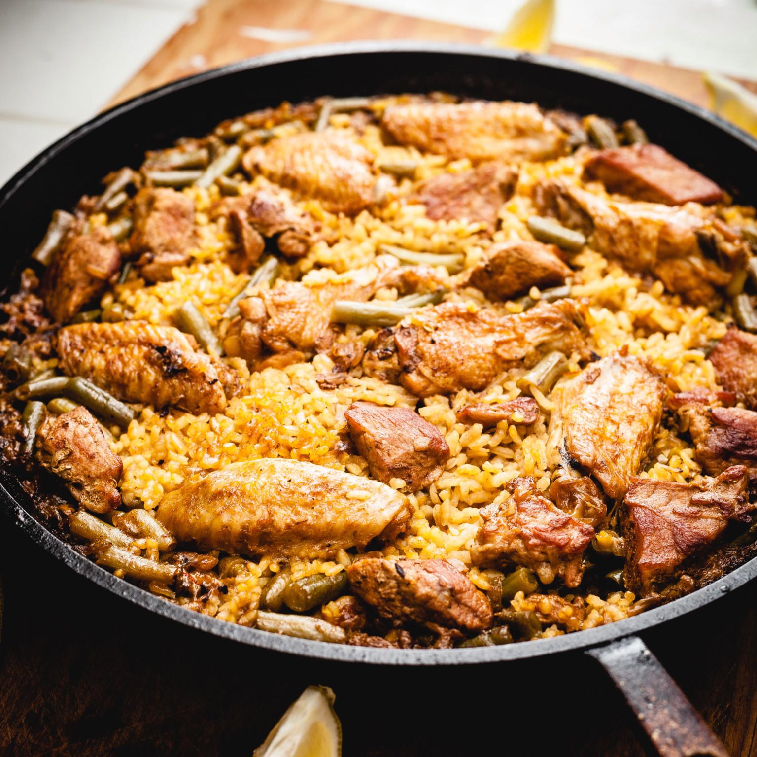paella de pollo y cochino | thatothercookingblog.com