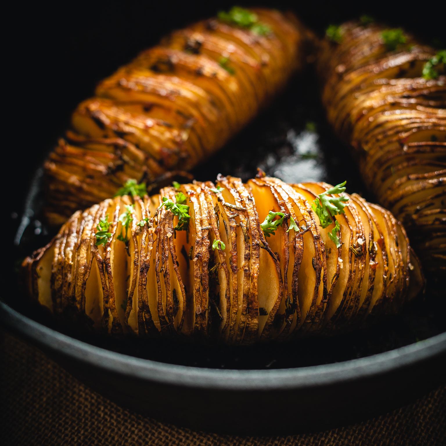 the mighty hasselback potato